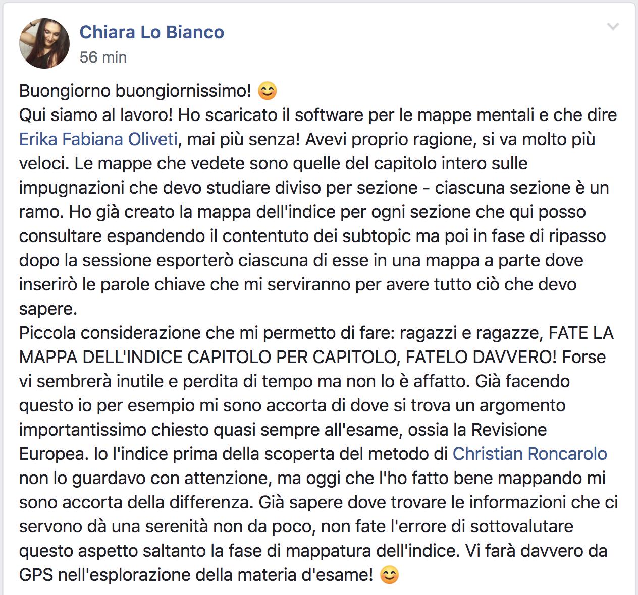 Chiara lo Bianco testimonial