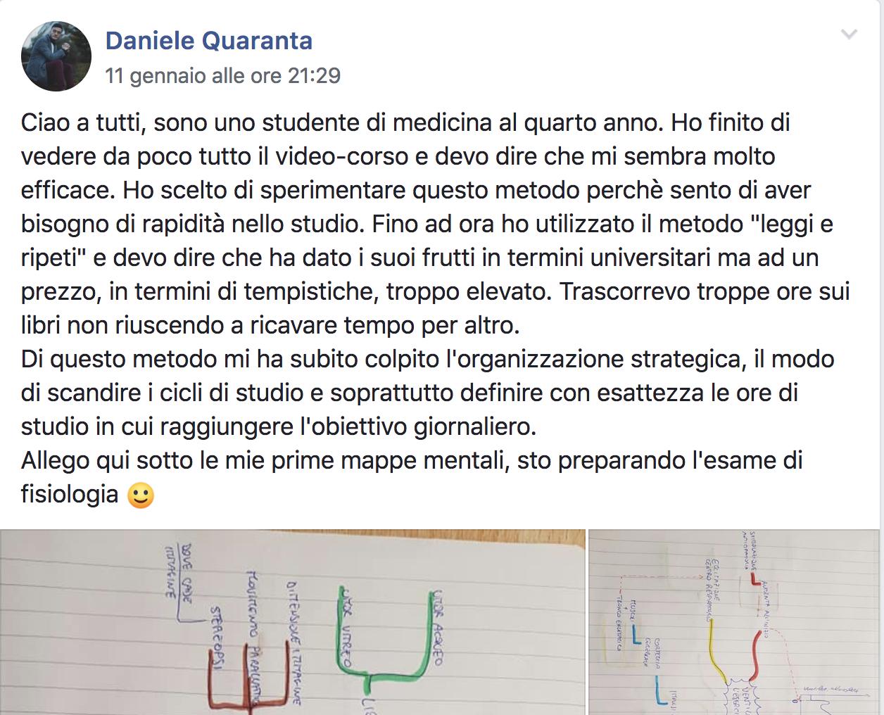Daniele Quaranta testimonial