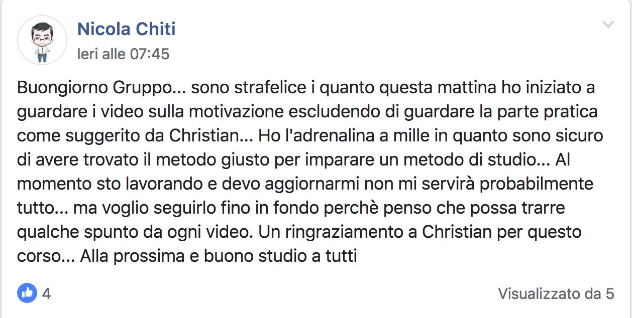 Nicola Chiti testimonial